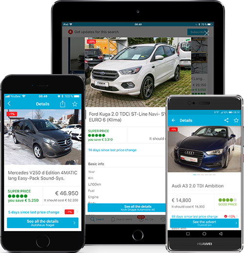 AutoUncle Mobil App til iPhone, iPad og Android