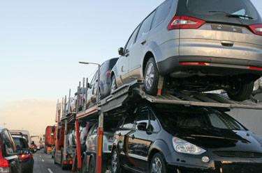 transporter bil fra Tyskland